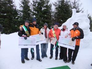 Sieger vom Schneesklupturen-Wettberwerb 2011